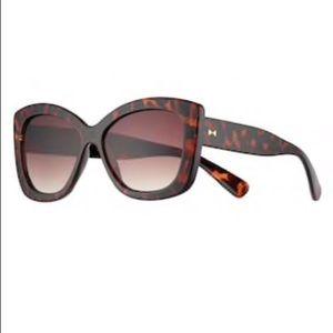Lauren Conrad Square Frame Brown Sunglasses